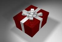 3d model present opening