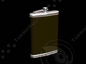 3d flask alcohol model