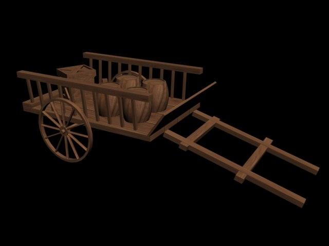wagon barrels 3d max