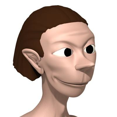 jack cartoon naked 3d max