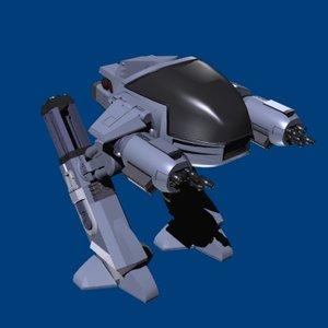 robocop robot droid 3d model