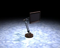 3ds max pelican television monitor