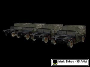 3d humvee military model