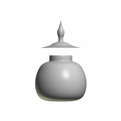free obj mode untextured bowl lid