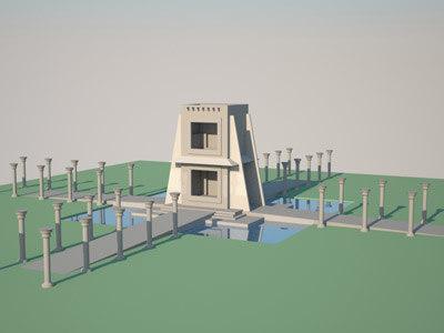 landmark 3d model