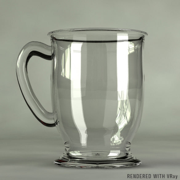 3d glass coffee cup model