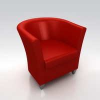 john bronco armchair 3d model