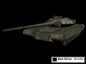 3d t-90 tank