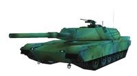 3d model m1 abrams tank