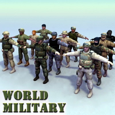 3d 12 military soldier model