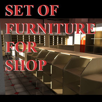 3d model set furniture store