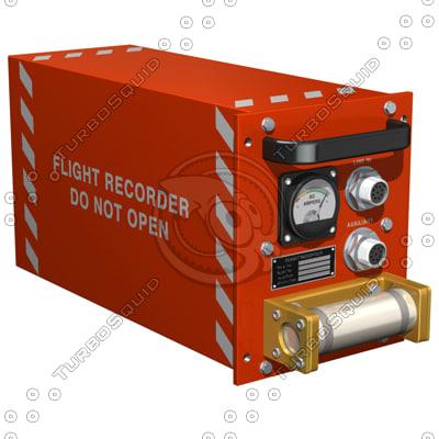 3d flight recorder black box model
