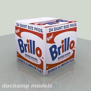 3d model of andy brillo box
