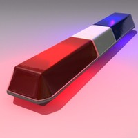 3d model police warning light