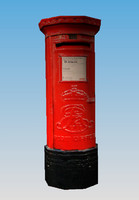 Royal Mail Post Box - Low Polygon