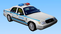 NYPD Car - Low Polygon