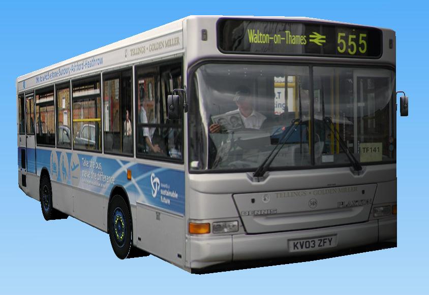 3d english service bus model