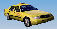 3d new york yellow taxi model