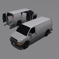 3ds max modern delivery van vehicle