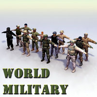 12 military infantry soldier 3d model