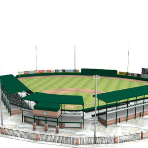 3d model of minor baseball stadium