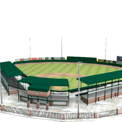 3d model of minor baseball stadium