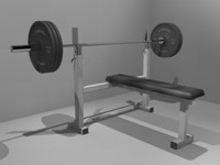 exercise bench press 3d model