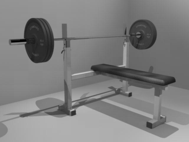exercise bench press 3d model