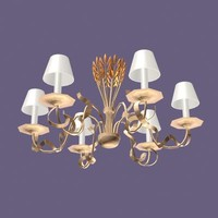 3ds max chandelier lamp light