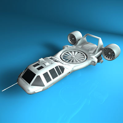 maya sci-fi vehicle