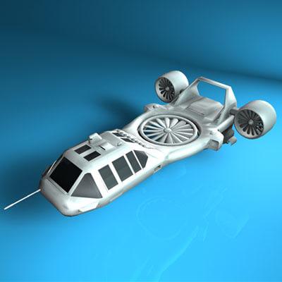 maya sci-fi vehicle