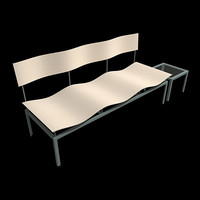 bench seating 3d model