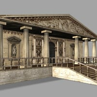 ancient building pantheon 3d max
