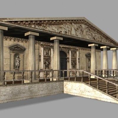 ancient building pantheon 3d max