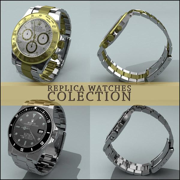 replica watches 3d model
