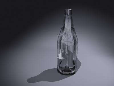 free iced glass bottle 3d model