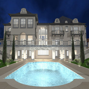 3ds max french château