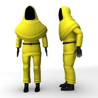 3d model man protective suit