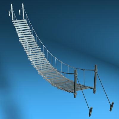 rope bridge c4d