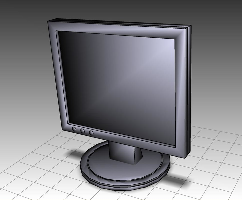 19 lcd screen 3d model