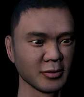 obj male face asian man