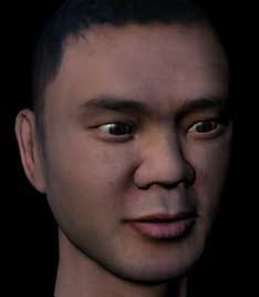 obj male face asian man