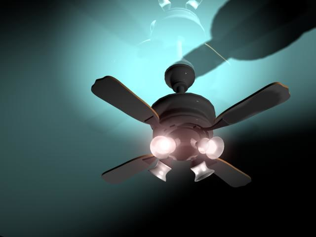 3ds max ceiling fan