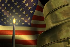 bell flag candle 3d model
