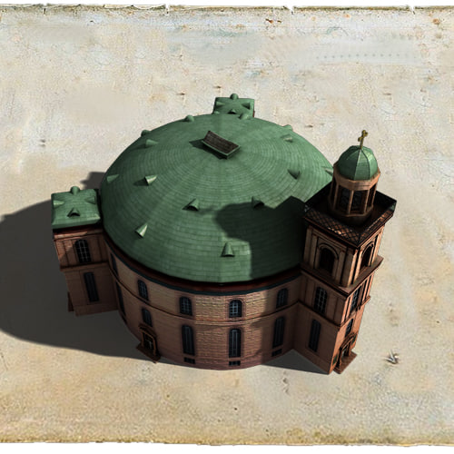 paulskirche church buildings 3d model