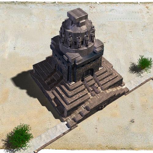 leipzig buildings 3d model