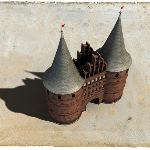 holstentor tower buildings 3d max