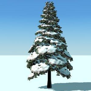 3d model snow pine