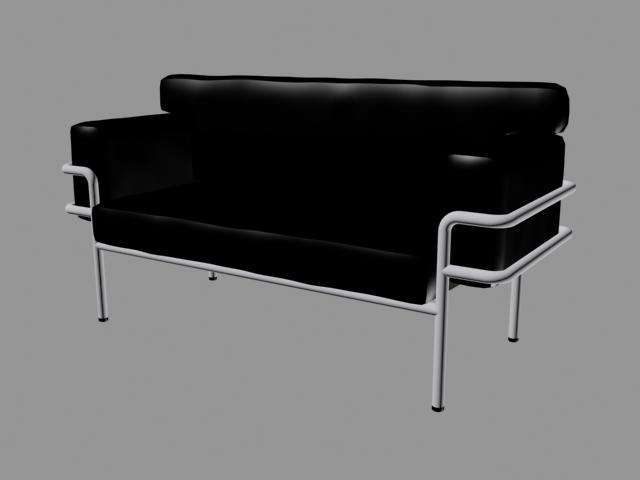 3dsmax leather couch