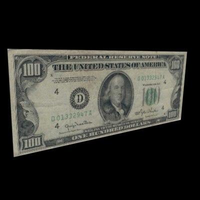 maya stacked cash 100 dollar bill